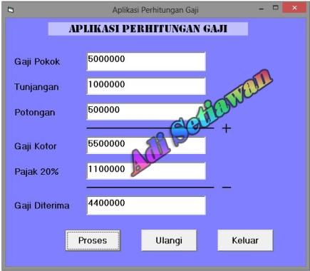 Aplikasi Perhitungan Gaji