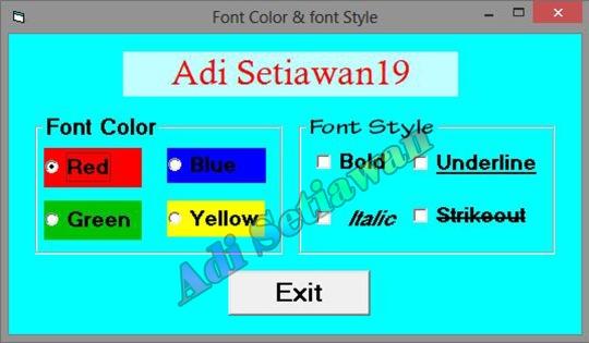 Font & Color Style